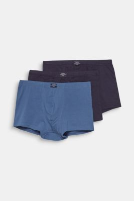 Stretch cotton hipster shorts in a triple pack, NAVY, detail
