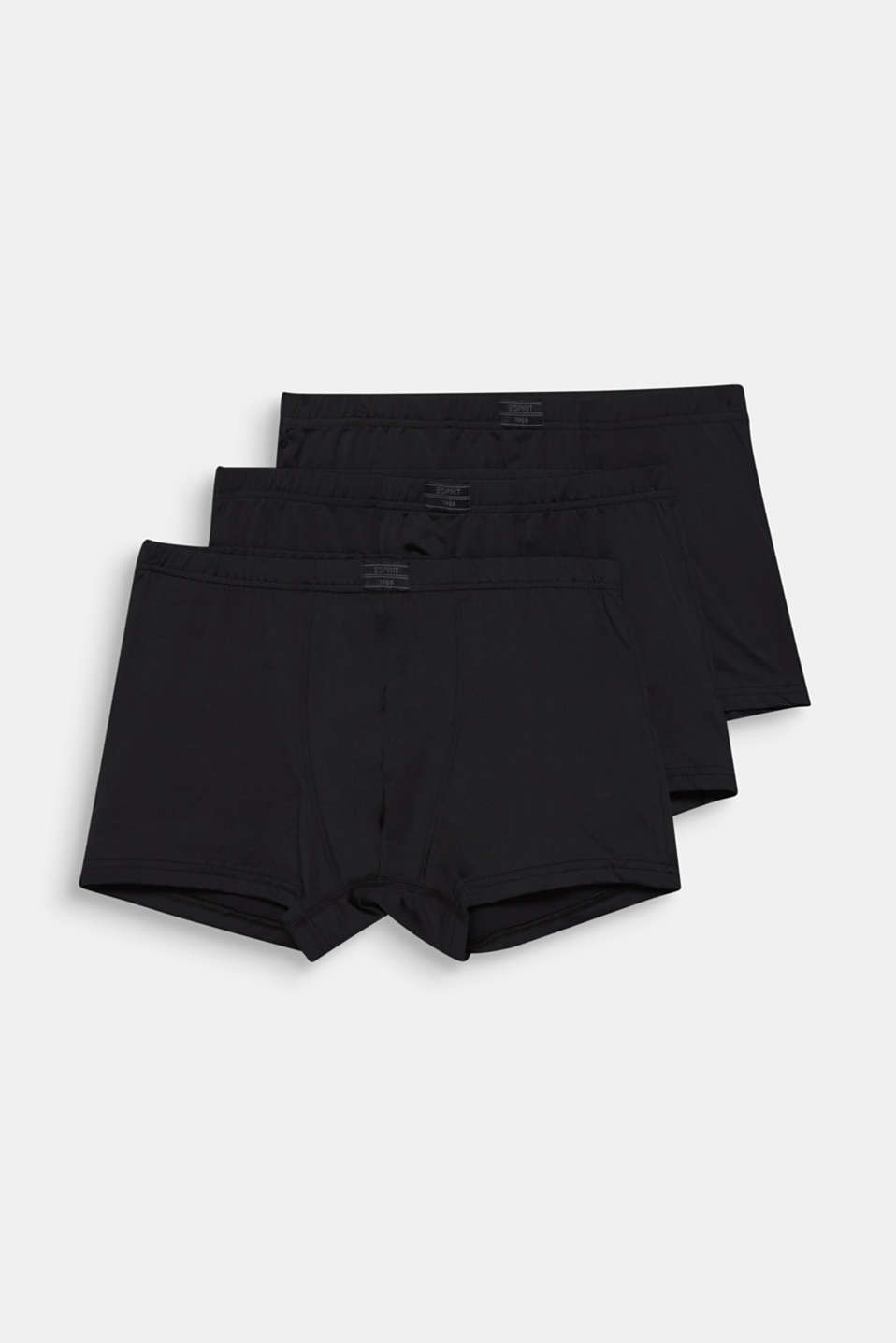 Microfibre hipster shorts in a triple pack, BLACK, detail image number 3