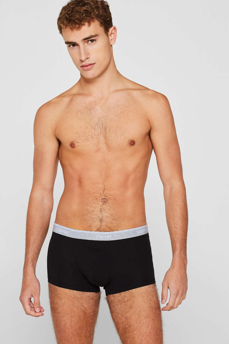 Esprit - Triple pack: Hipster shorts with a logo waistband