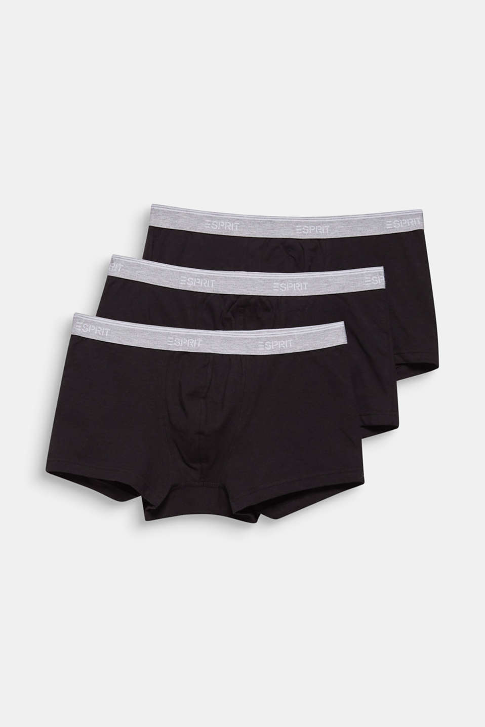 Triple pack: Hipster shorts with a logo waistband, BLACK, detail image number 3