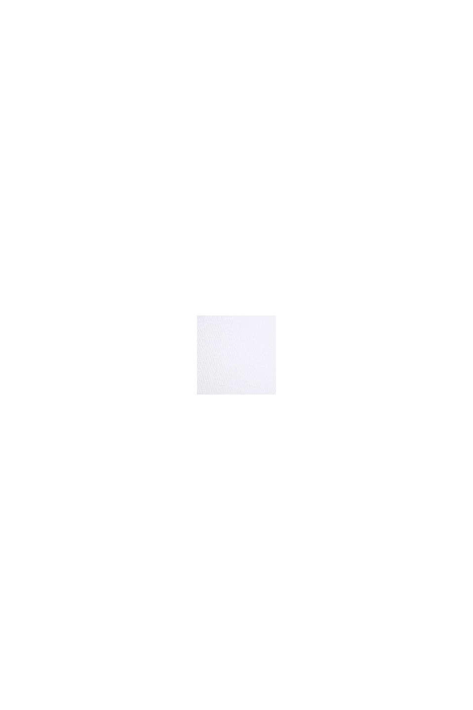 Wattiertes Top mit Logo-Blende, WHITE, swatch