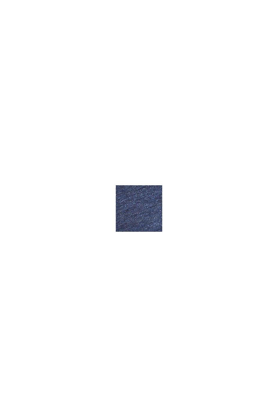 Polstret soft-BH med stretch og blonder, NAVY, swatch
