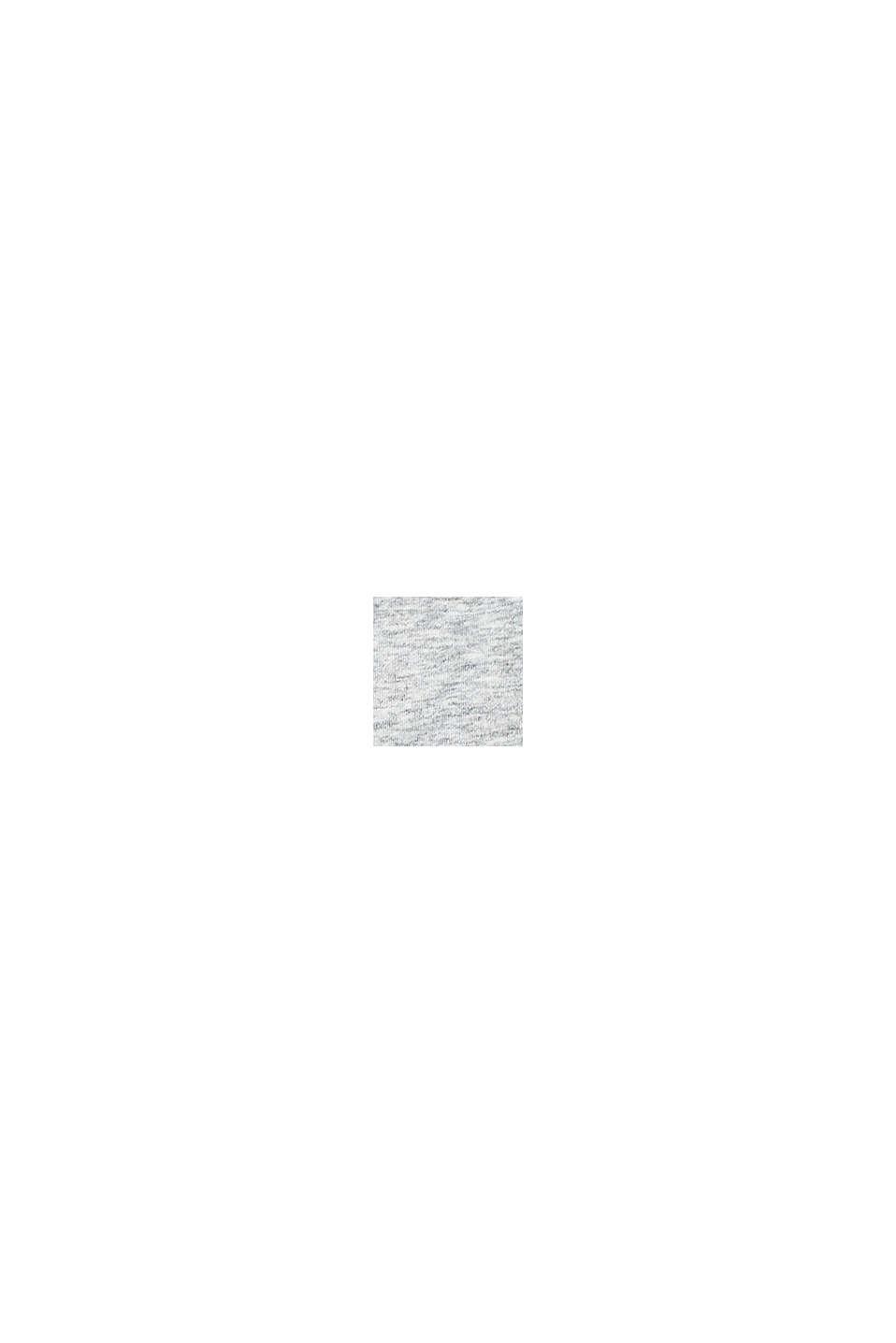 Melerad bustier i jersey med logokant, LIGHT GREY, swatch