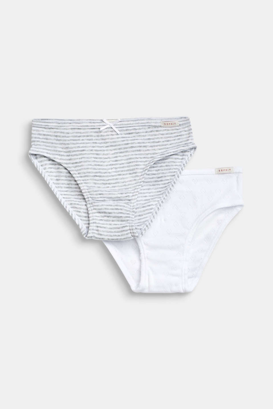 Double pack of briefs, 100% cotton, LIGHT GREY, detail image number 0