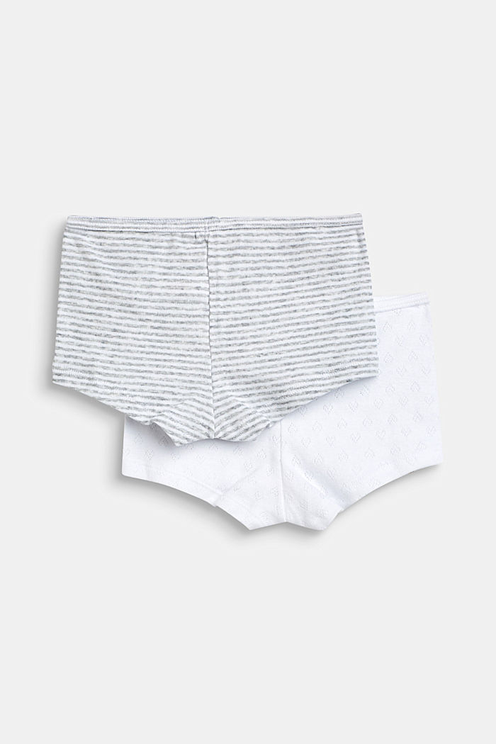 Shorts im Doppelpack, 100% Baumwolle, LIGHT GREY, detail image number 2
