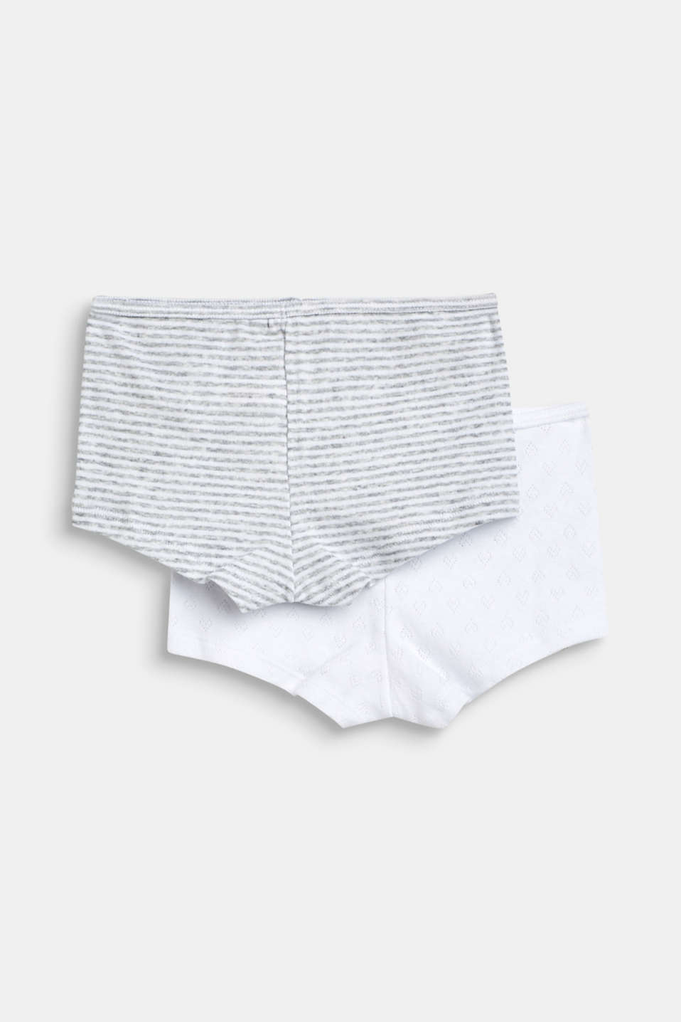 Double pack of shorts, 100% cotton, LIGHT GREY, detail image number 2