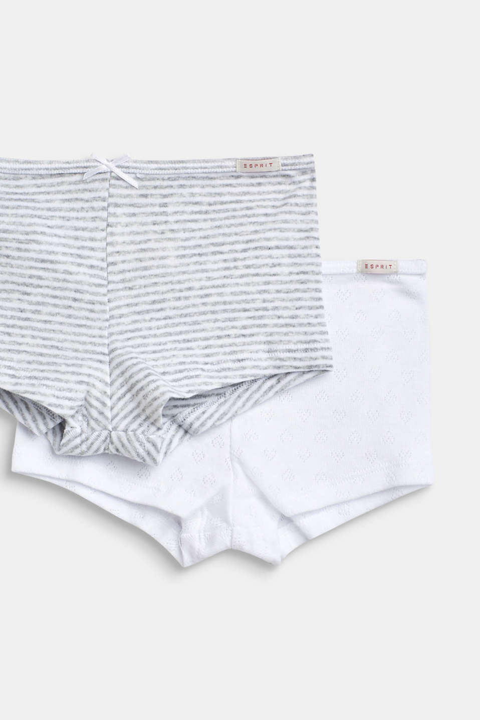 Double pack of shorts, 100% cotton, LIGHT GREY, detail image number 1