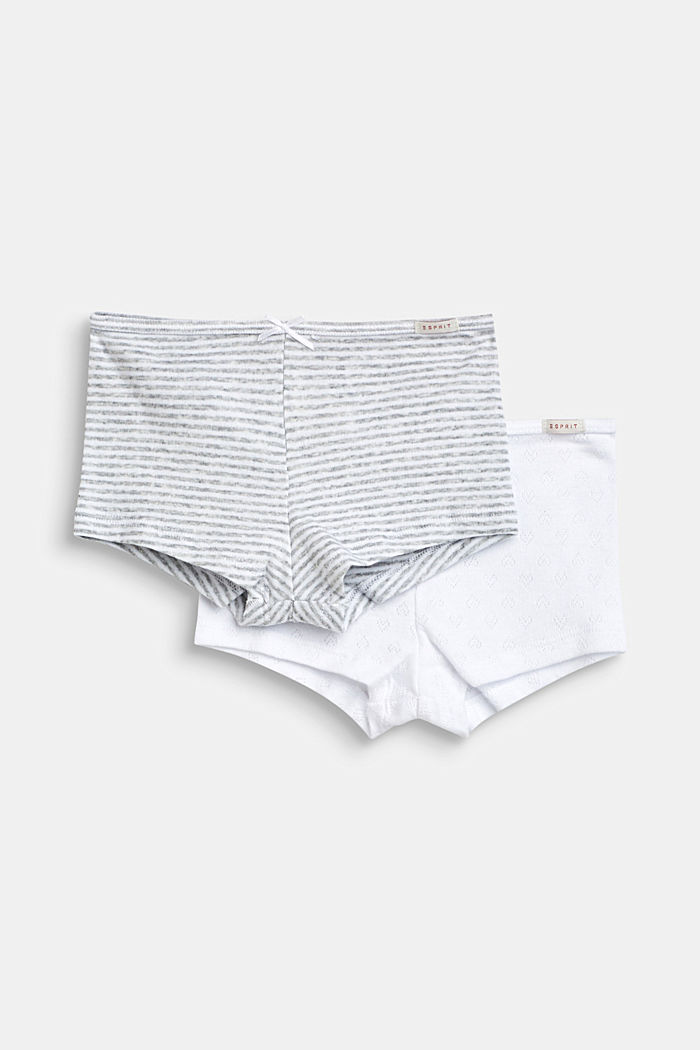 Shorts im Doppelpack, 100% Baumwolle, LIGHT GREY, detail image number 0