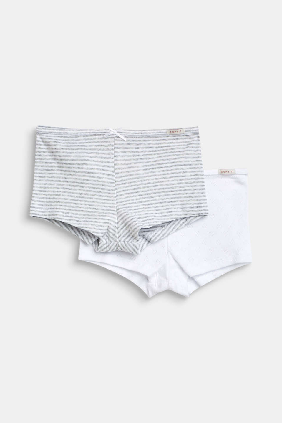 Double pack of shorts, 100% cotton, LIGHT GREY, detail image number 0
