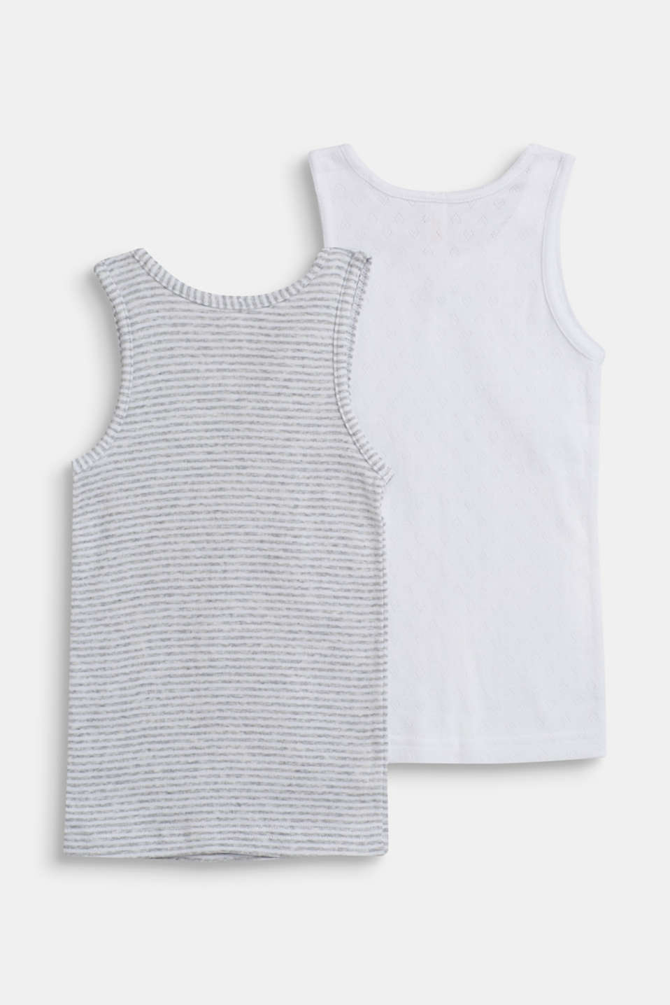 Tops in a double pack, 100% cotton, LIGHT GREY, detail image number 1