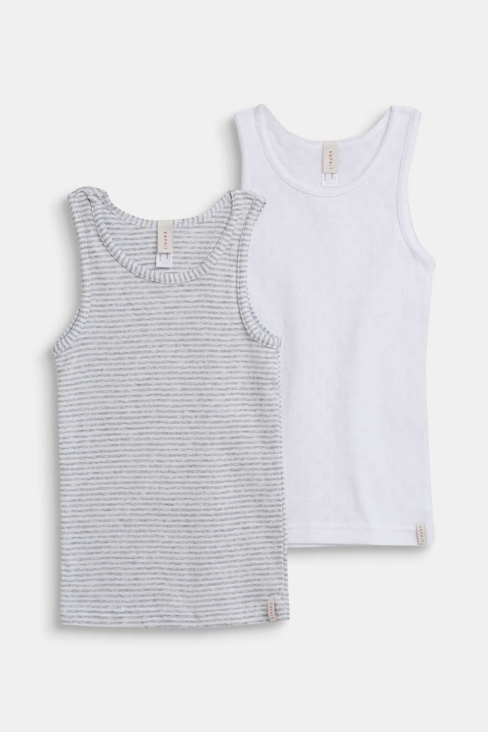 Esprit - Tops in a double pack, 100% cotton