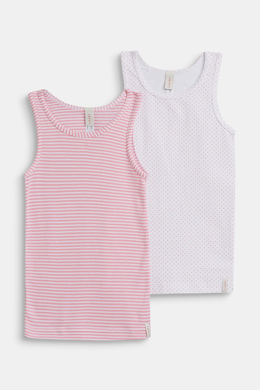 Tops in a double pack, 100% cotton