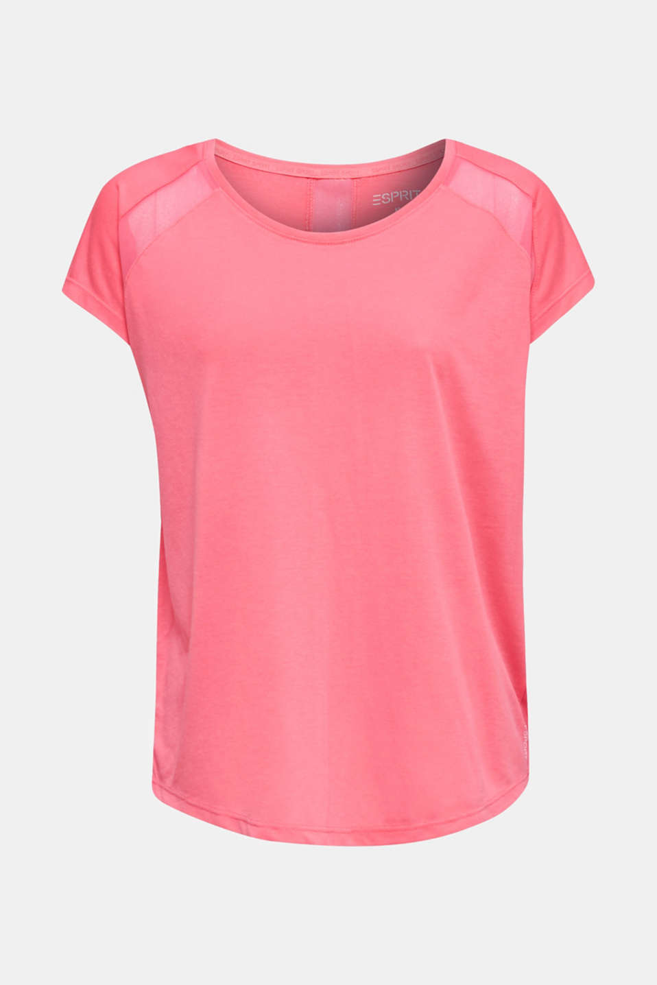 Top with mesh details, CORAL, detail image number 7