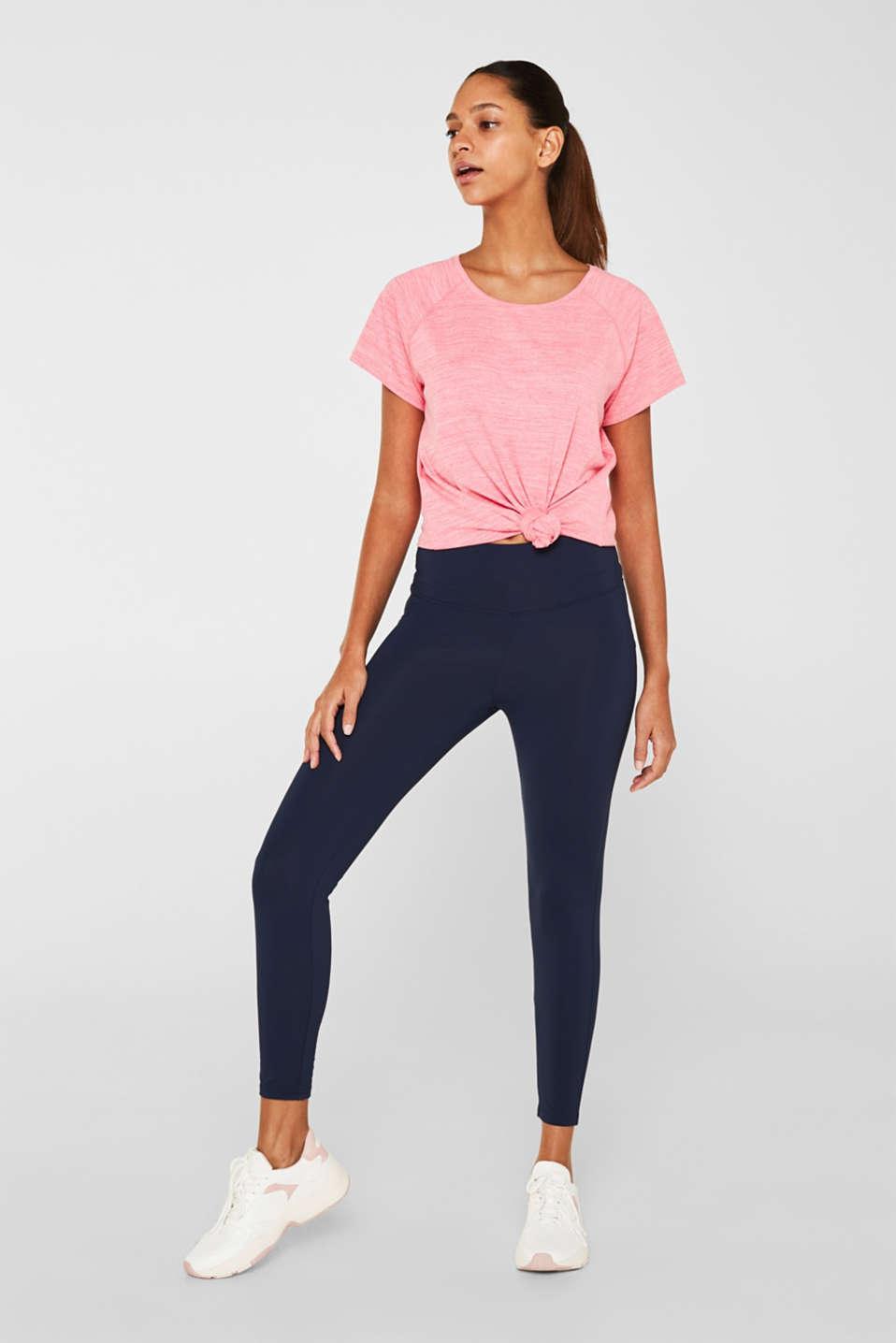 Melange active T-shirt, E-DRY, CORAL 2, detail image number 5