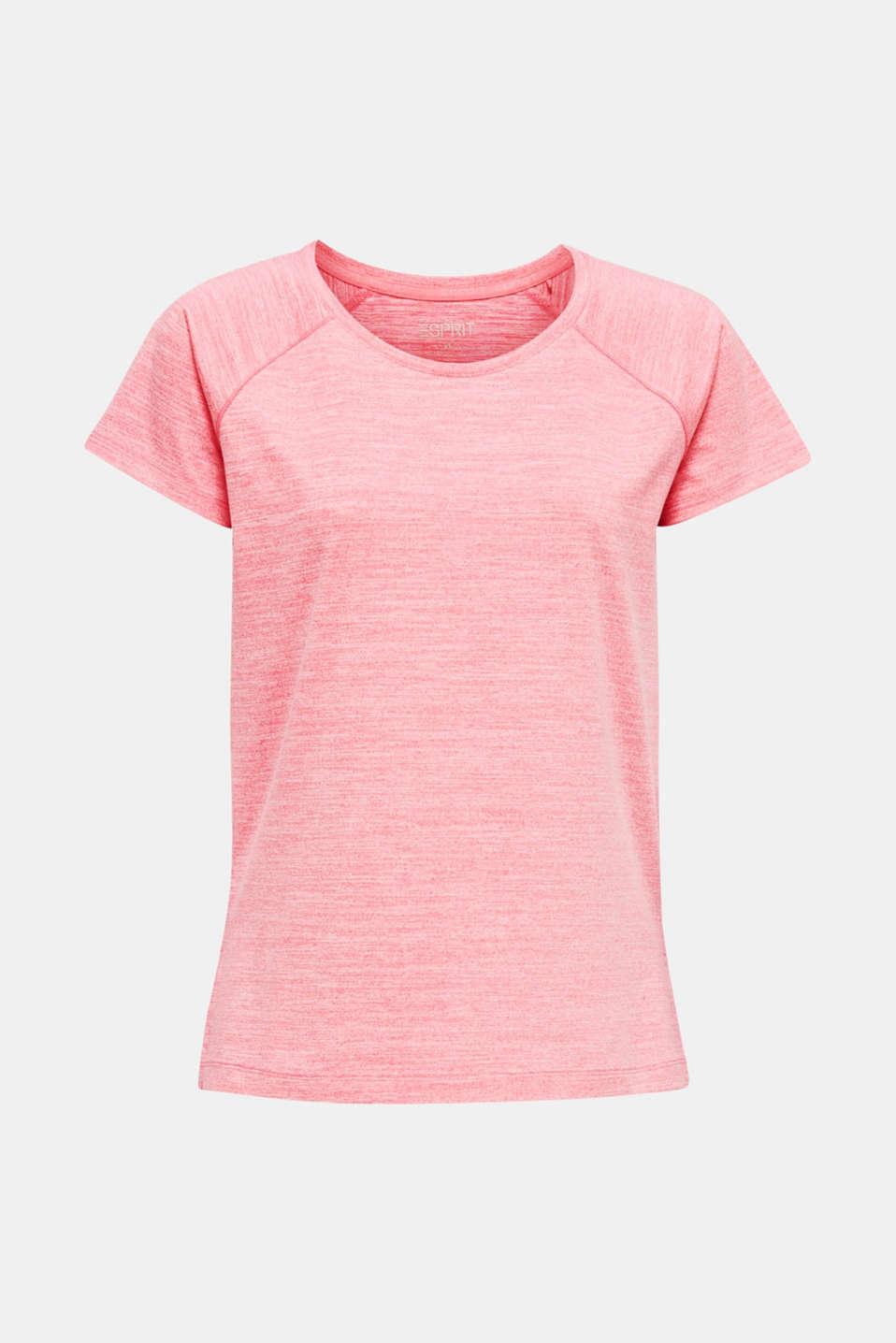 Melange active T-shirt, E-DRY, CORAL 2, detail image number 6