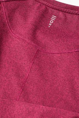 Melange active T-shirt, E-DRY, DARK PINK 2, detail
