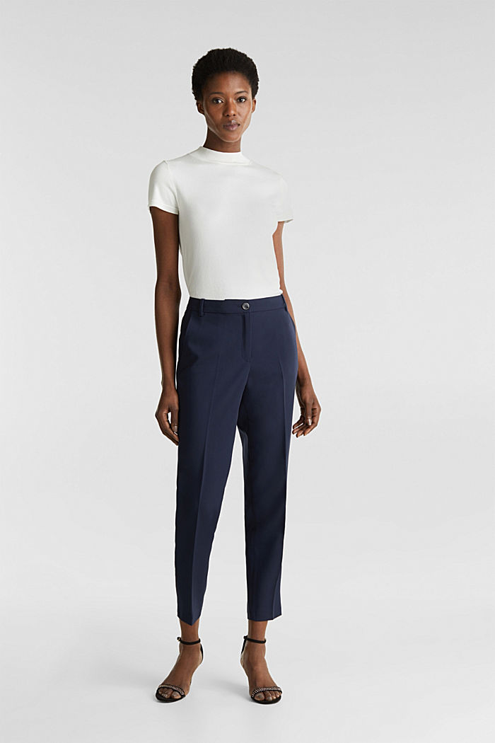 SPRING Mix + Match stretch trousers, NAVY, detail image number 0