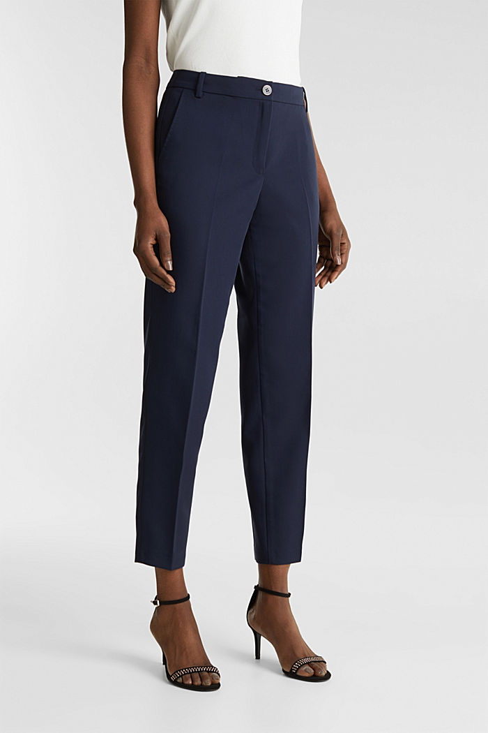 SPRING Mix + Match stretch trousers, NAVY, detail image number 6