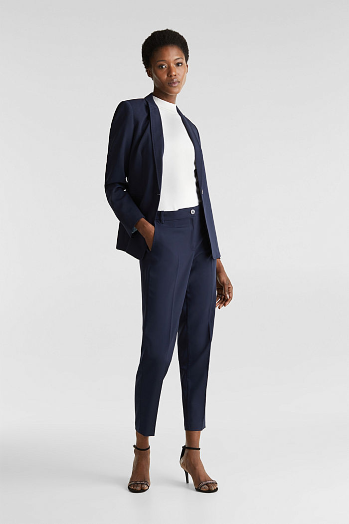 SPRING Mix + Match stretch trousers, NAVY, detail image number 1