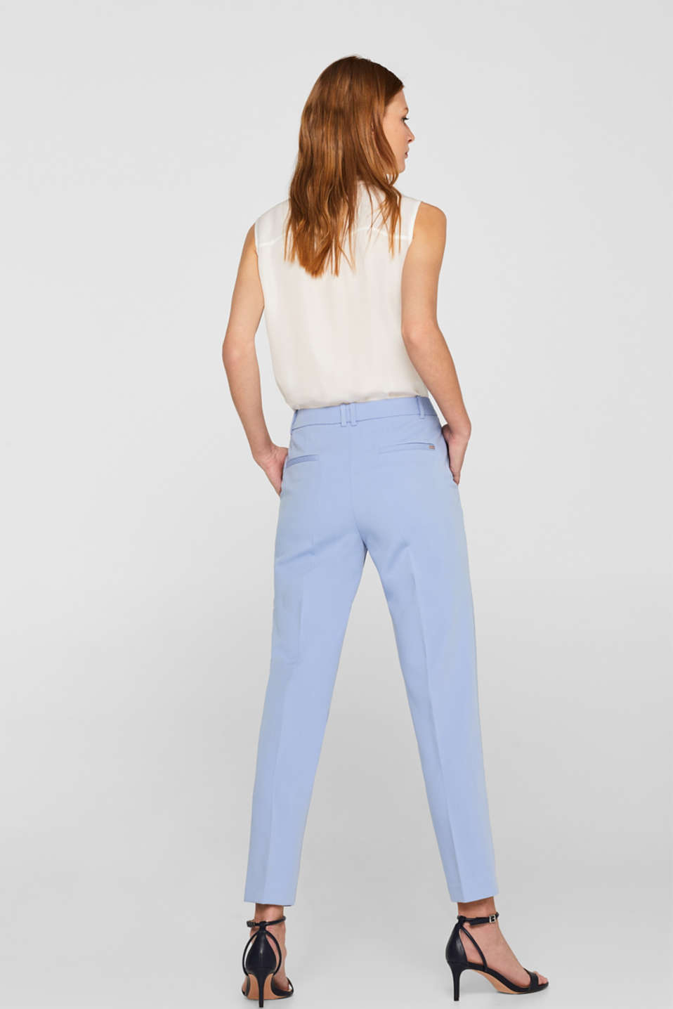 SPRING Mix + Match stretch trousers, LIGHT BLUE, detail image number 3