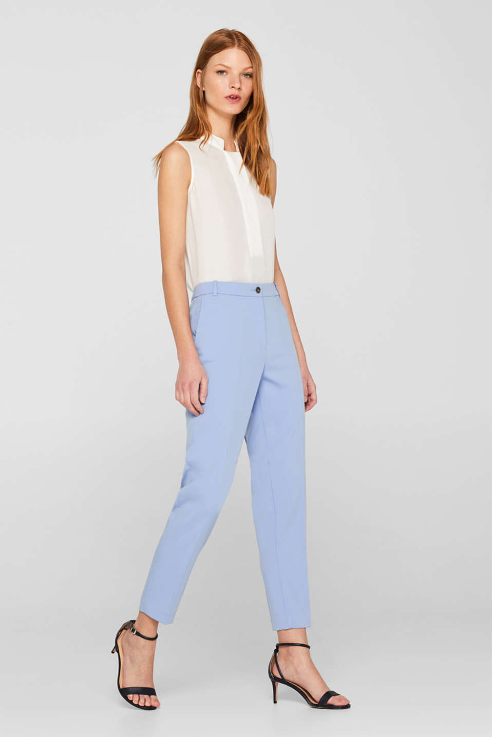SPRING Mix + Match stretch trousers, LIGHT BLUE, detail image number 1