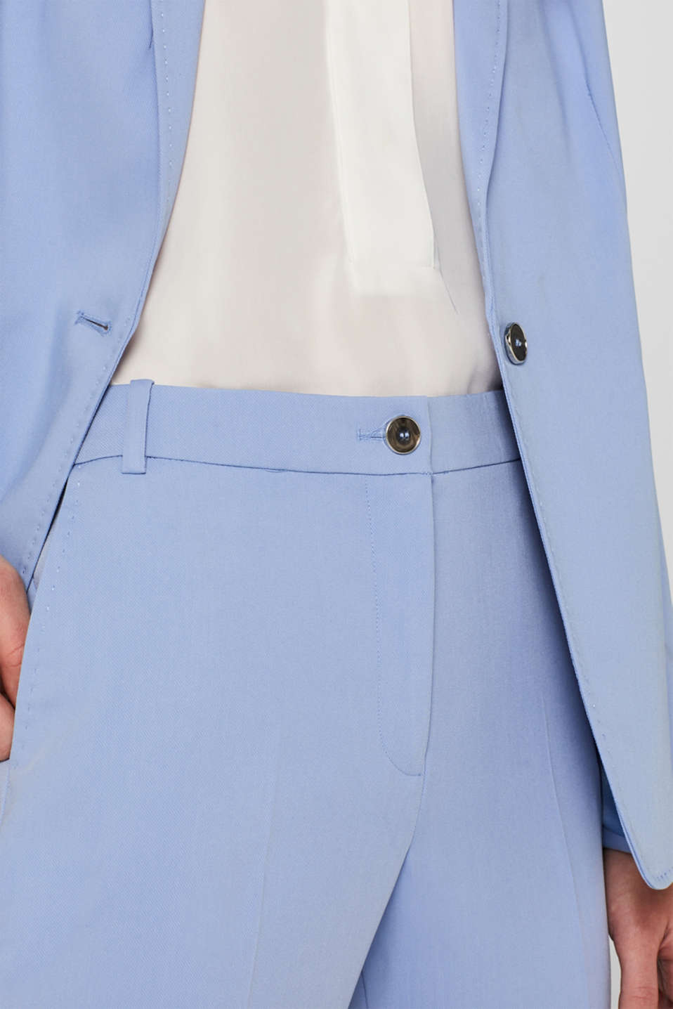 SPRING Mix + Match stretch trousers, LIGHT BLUE, detail image number 2