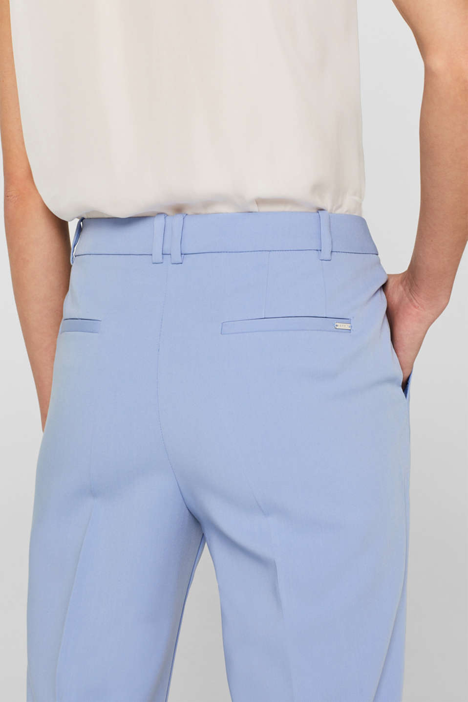 SPRING Mix + Match stretch trousers, LIGHT BLUE, detail image number 5