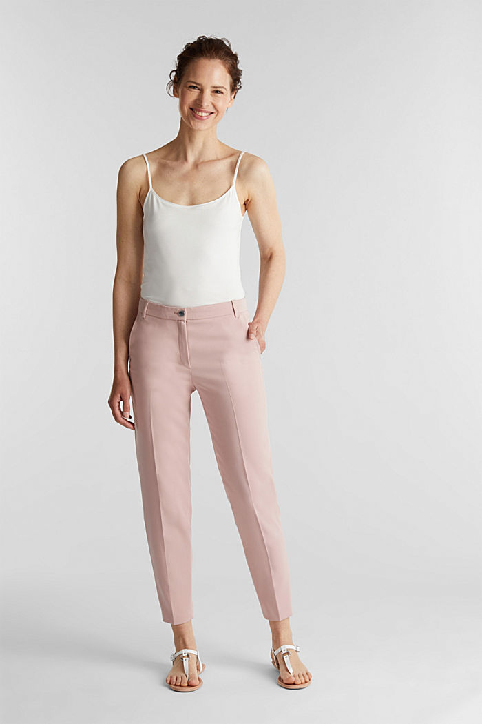 SPRING Mix + Match stretch trousers, OLD PINK, overview