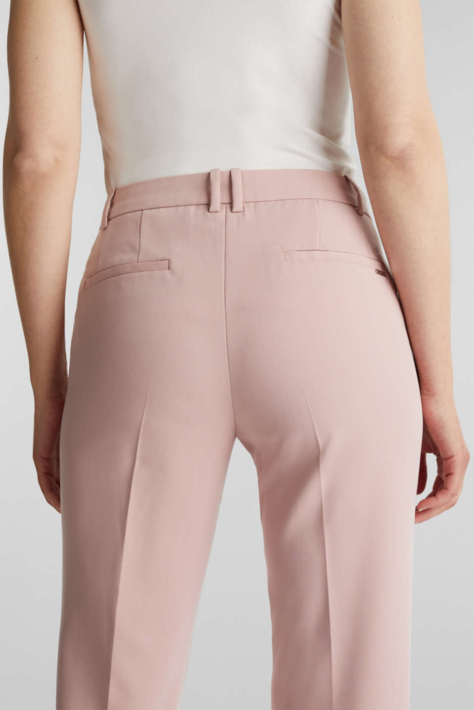 SPRING Mix + Match stretch trousers, OLD PINK, detail image number 5