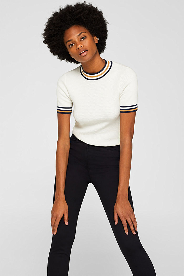 Soft high-waisted trousers with stretch