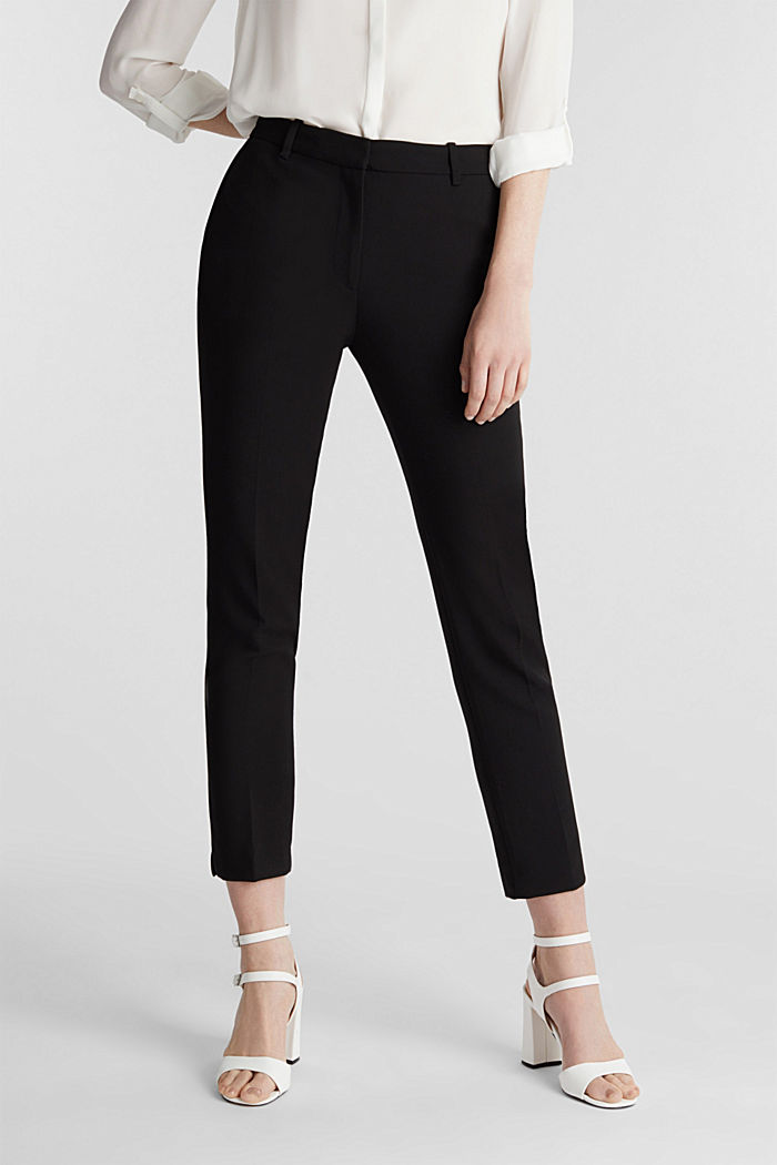 Stretch trousers in a business look, BLACK, detail image number 0