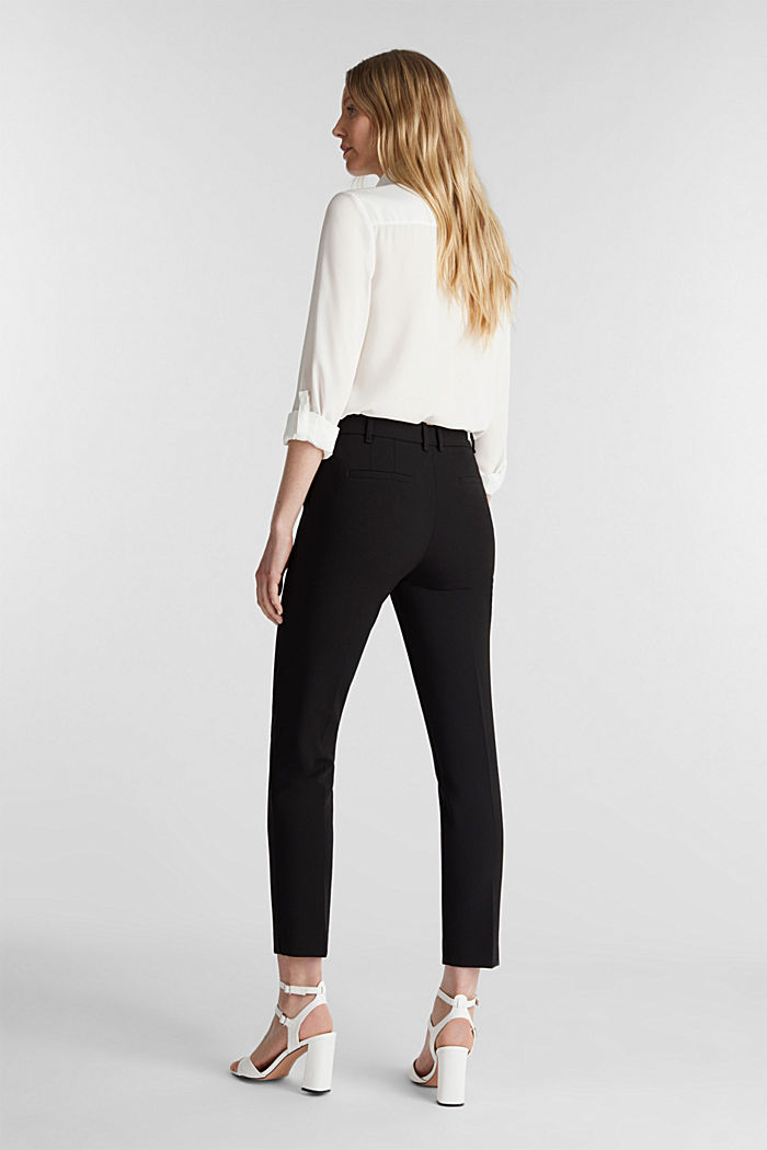 Stretch trousers in a business look, BLACK, detail image number 3