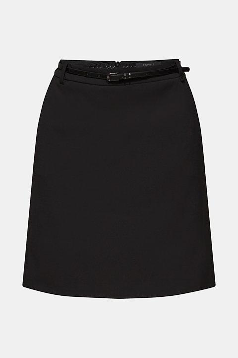 Stretch skirt with stitching