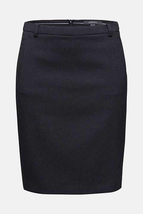 Jacquard stretch skirt