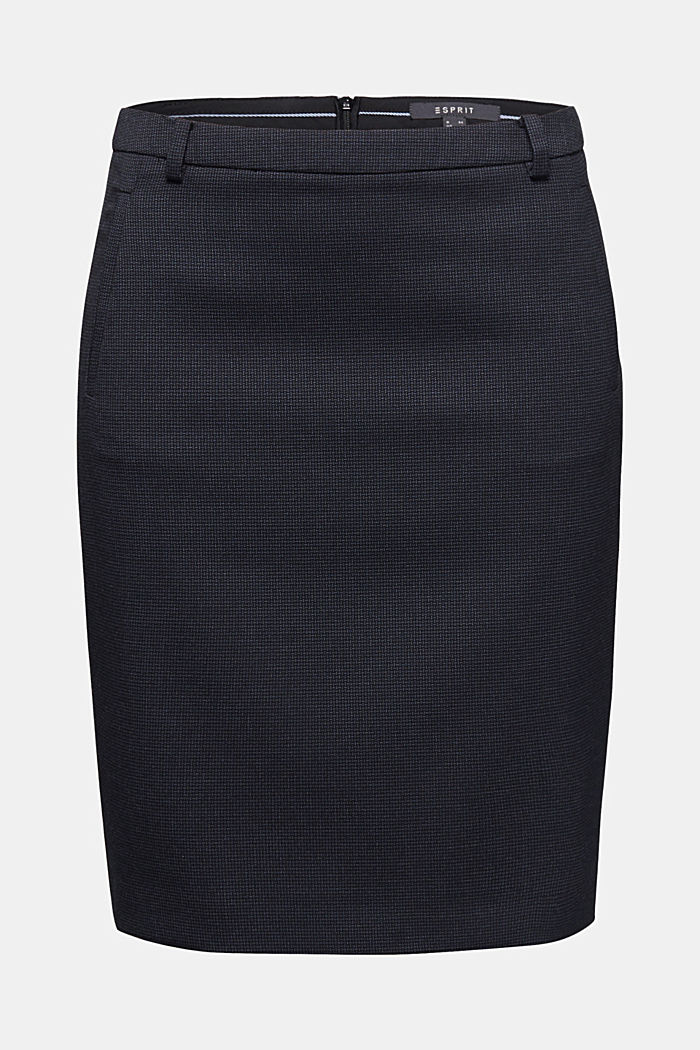 Jacquard stretch skirt