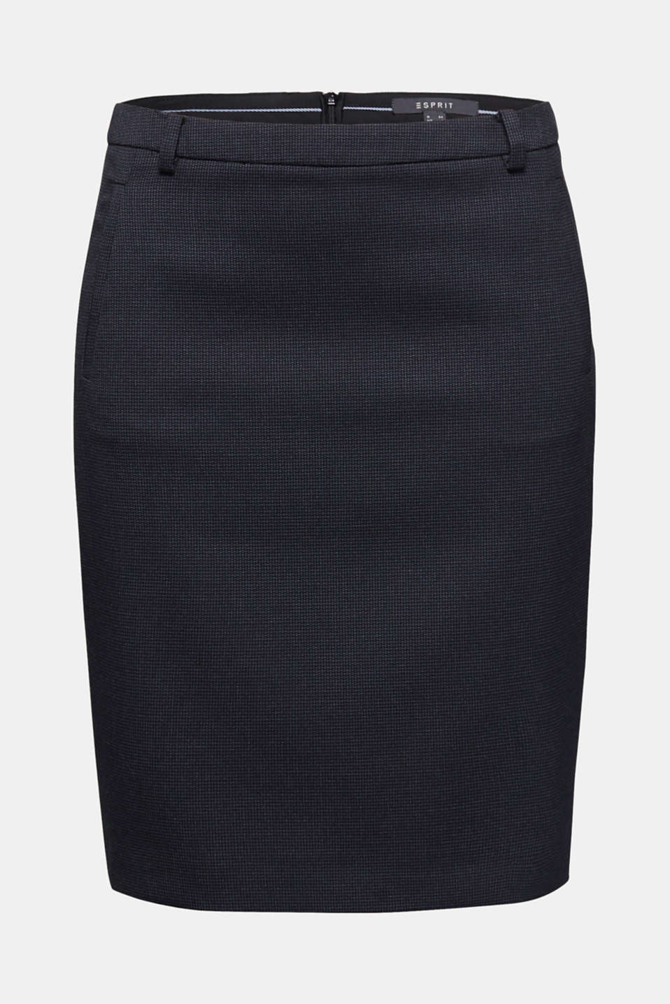 Jacquard stretch skirt, NAVY 5, detail image number 4