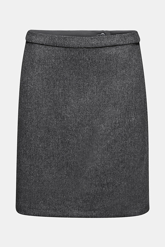 With wool: elegant A-line skirt