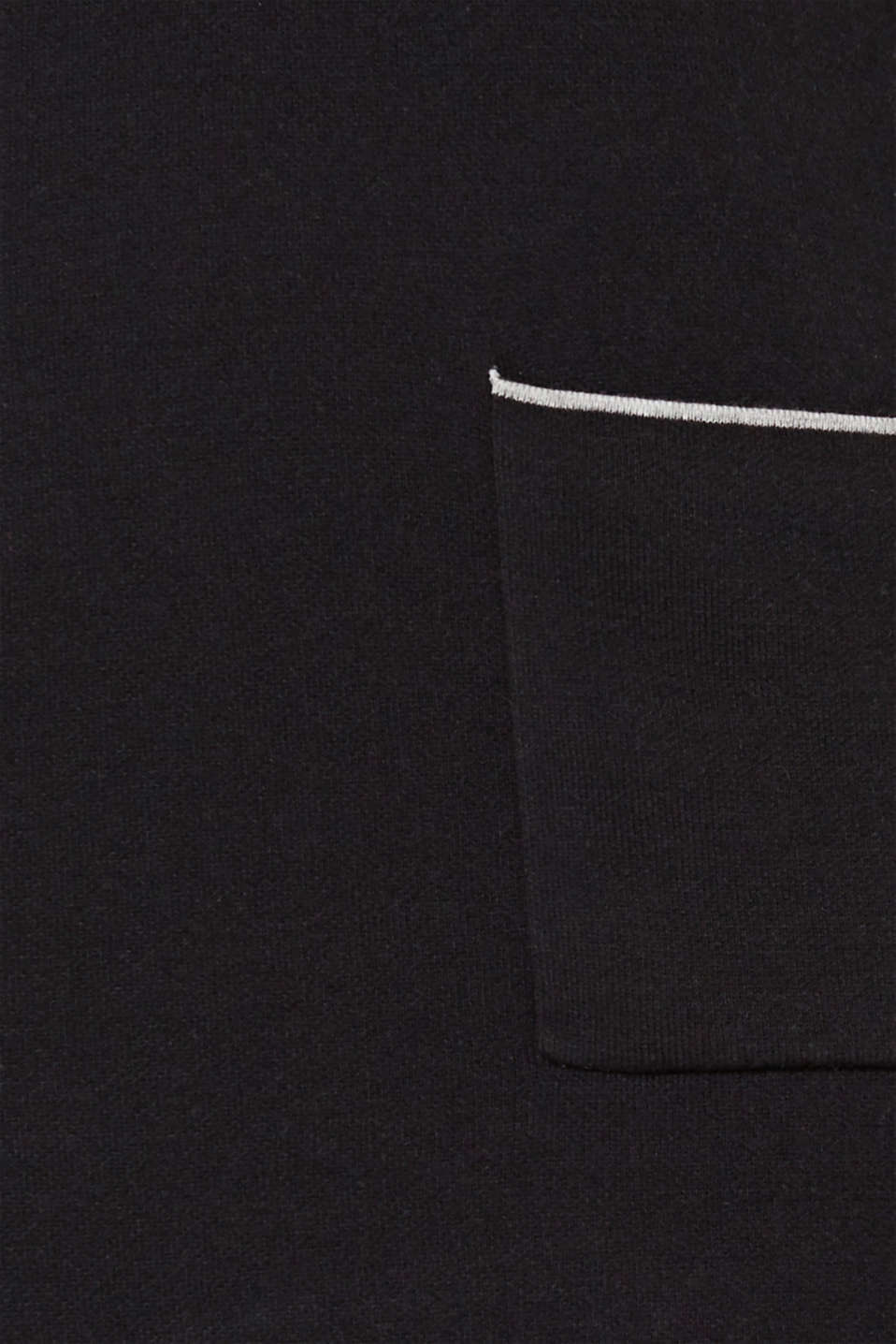 Stretch dress made of double-faced yarn, BLACK 2, detail image number 4