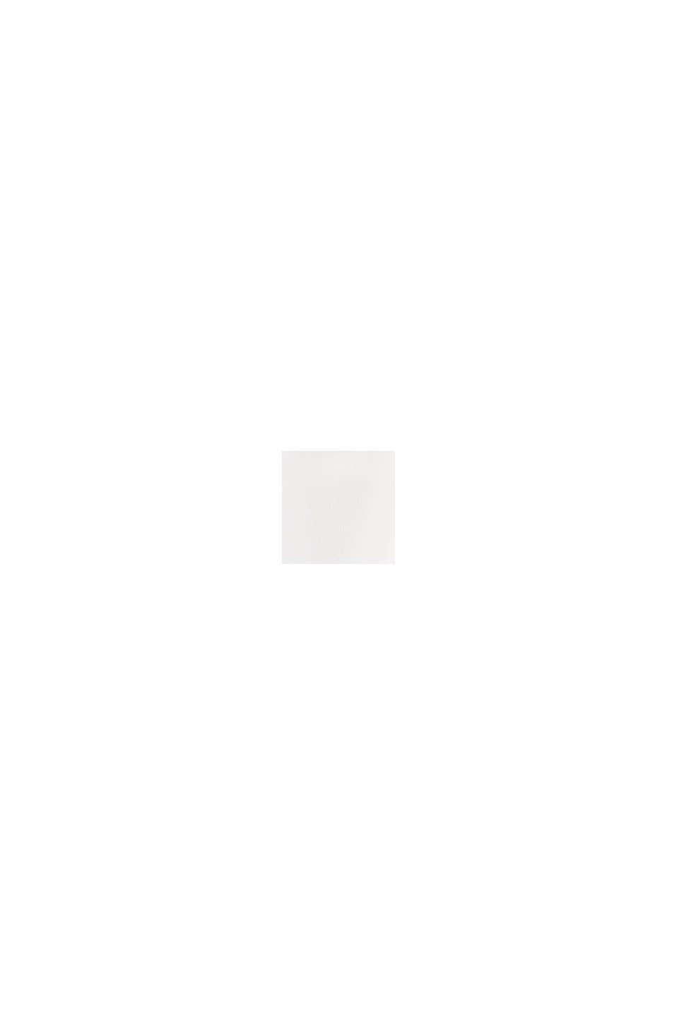 Blouse met V-hals en geplooide rand, OFF WHITE, swatch
