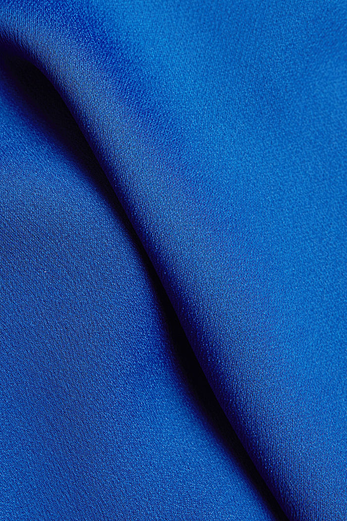 V-neck blouse with pleated trim, BRIGHT BLUE, detail image number 4