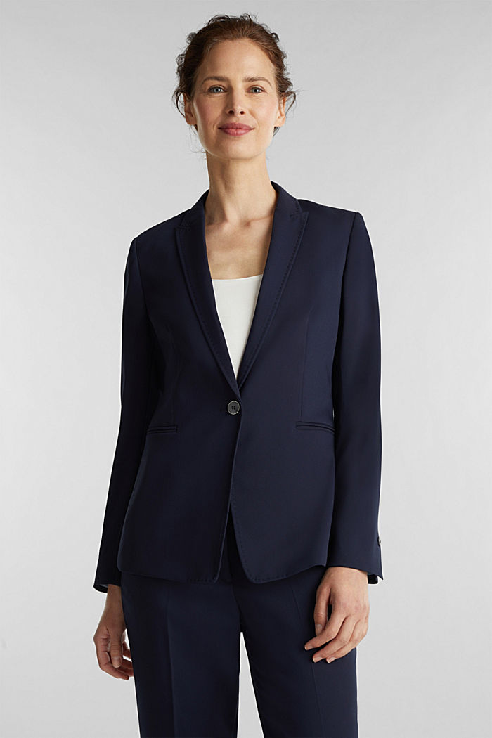 SPRING TWILL mix + match blazer, NAVY, detail image number 0