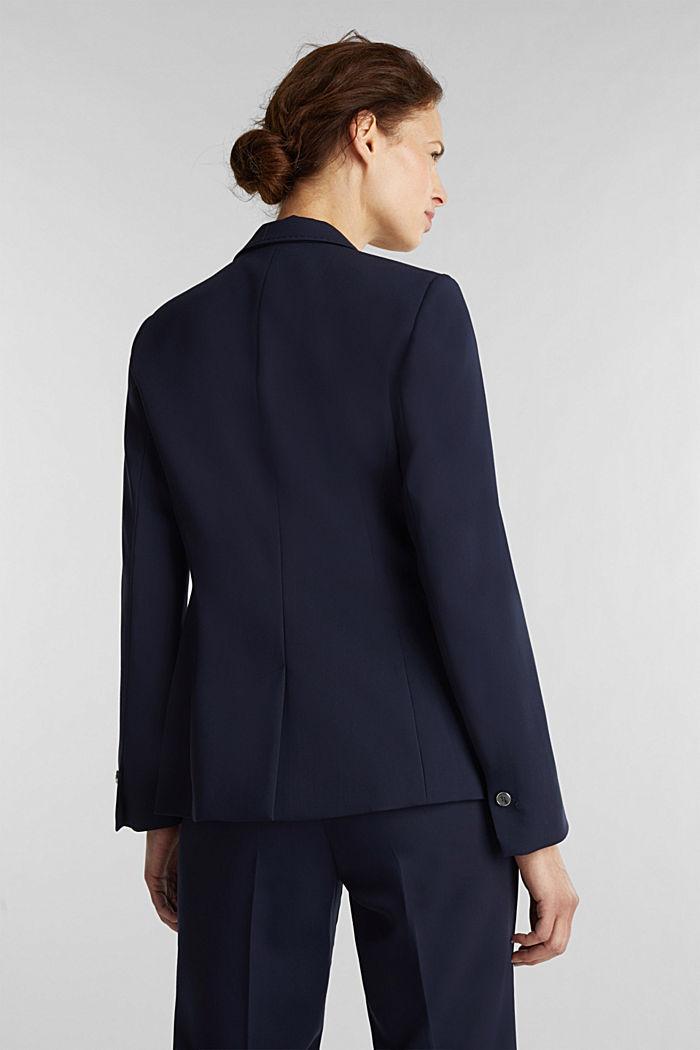 SPRING TWILL mix + match blazer, NAVY, detail image number 3