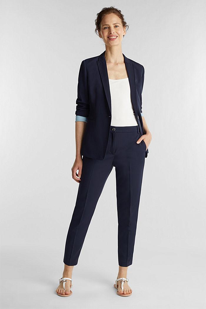 SPRING TWILL mix + match blazer, NAVY, detail image number 1