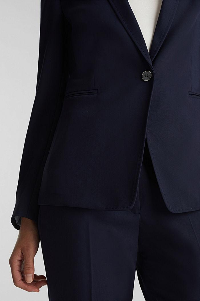 SPRING TWILL mix + match blazer, NAVY, detail image number 2