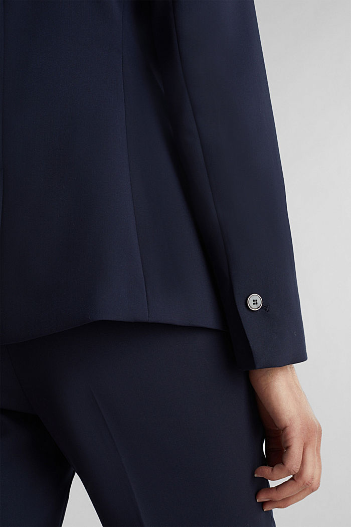 SPRING TWILL mix + match blazer, NAVY, detail image number 5
