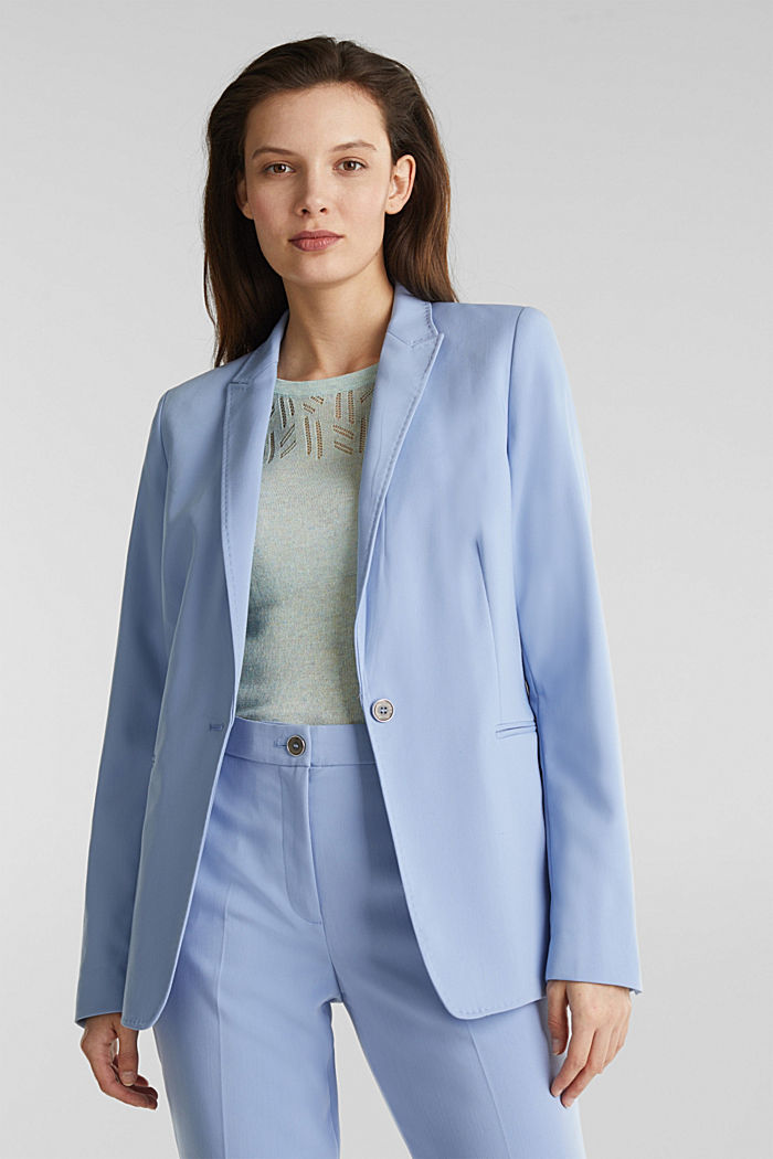 SPRING TWILL mix + match blazer, LIGHT BLUE, detail image number 0