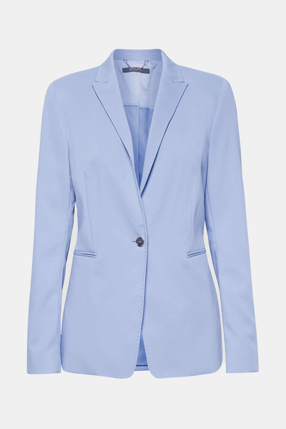 SPRING TWILL Mix + Match stretch blazer, LIGHT BLUE, detail image number 7