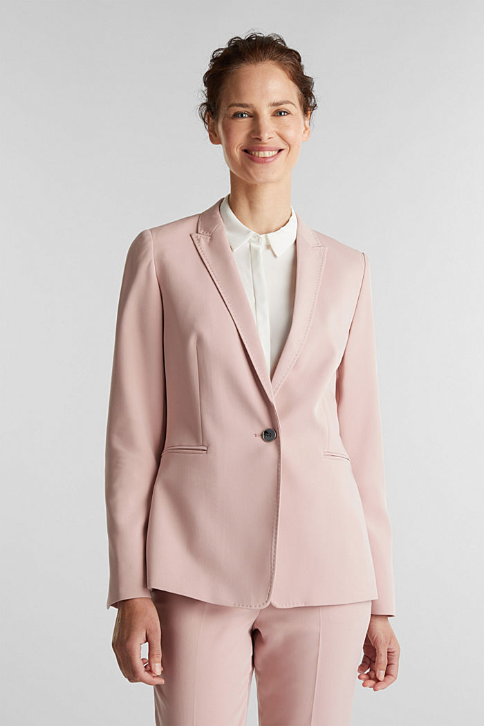 SPRING TWILL mix + match blazer, OLD PINK, detail image number 0