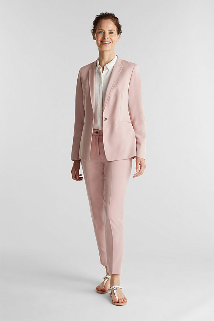 SPRING TWILL mix + match blazer, OLD PINK, detail image number 1