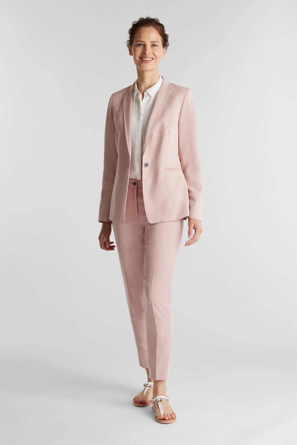 SPRING TWILL mix + match blazer, OLD PINK, detail image number 1